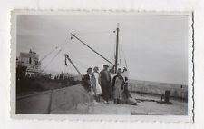 PHOTO ANCIENNE  Bateau Navette Retour de l'Ile d'Oléron 1934 Snapshot Groupe