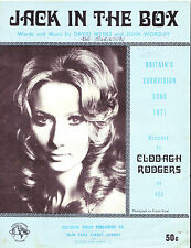 Eurovision 1971 Australian sheet music Jack In The Box Clodagh Rodgers