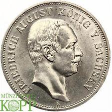Z985) J.136 SACHSEN 5 Mark 1914 E - Friedrich August III. 1904-1918 - Silber