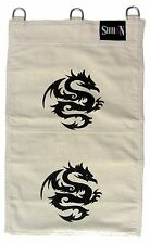 Makiwara Kung Fu Sand Wall Bag Wing Chun, Canvas  Bag 2 Section  HEI- DRAGON