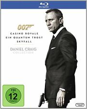 James Bond 007: CASINO ROYALE + EIN QUANTUM TROST + SKYFALL (3 Blu-ray Discs)