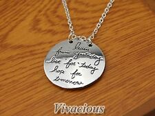 LEARN FROM YESTERDAY, LIVE FOR TODAY, HOPE FOR TOMORROW Pendant necklace Charm