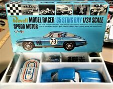 REVELL VINTAGE 1/24 1/25 NEW 65 CORVETTE SLOT CAR CHASSIS BOX DECALS INS COX AMT