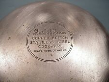 """Sears Maid Of Honor 7"""" Copper Bottom Stainless Steel Fry Pan Skillet  NO LID"""