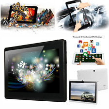 7inch Google Android 4.4 Allwinner Tablet PC Quad Core CAMERA 4GB AU Black