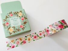 WASHI TAPE: BEAUTIFUL SUMMER ROSES BOXED WASHI TAPE- BRAND NEW