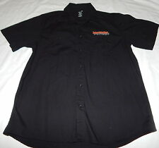 Jägermeister Mens Button front  shirt size XL Black Great Shape!!!