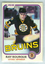 RAY BOURQUE 1981-82 O-Pee-Chee OPC '81 Hockey Card #1 VGEX NHL Boston Bruins c