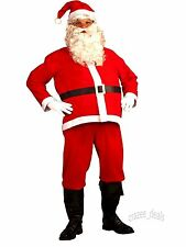 5 Piece Santa Suit Set Christmas Santa Claus Costume Adult One Size Fit Most NEW