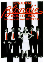 BLONDIE  POSTER. Parallel Lines, Punk.