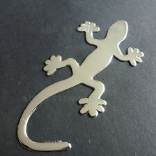 Lizard Gecko Silver Chrome Badge Decal Sticker for Fiat Grande Punto Evo Abarth
