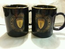 1944 Normandy 1994 fifty years of freedom pair of mugs navy gold new vintage 2