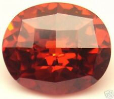 13x11 mm 11.35 ct Oval Checkerboard Padparacha CZ AAAAA