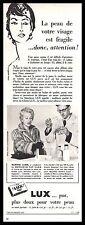 Publicité Savon LUX et Martine CAROL soap Cosmetique Cosmetics vintage  ad 1954