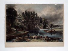 STRATFORD MILL~THE YOUNG WALTONIANS~ANTIQUE ENGRAVING~DAVID LUCAS~JOHN CONSTABLE