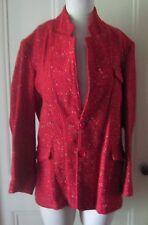 Vintage D'Avens Paris Boutique 100% Wool Mottled Speckled Tweed Jacket Blazer 40