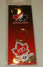 2015 Canada World Juniors Hockey Keychain Logo 100th Anniversary Championship