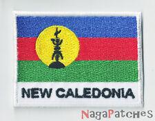 Patche écusson drapeau Kanaky Nvelle Calédonie thermocollant / patch 1584