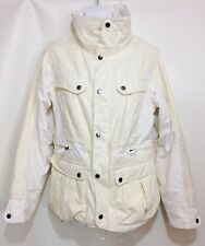 B by Burton Windsor Snowboard Jacket White Yellow Rock Salt Womens M