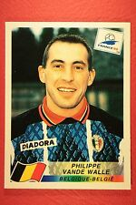 PANINI WC WM FRANCE 98 1998 N. 334 BELGIQUE VANDE WALLE WITH BLACK BACK MINT!!