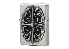 Zippo Cross Metal  Antique Silver / RARE Model from Japan !