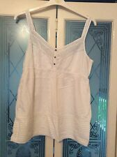 straps  Size 18 FAT FACE white summer Cami Top/thin steaps