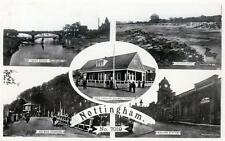 Nottingham Munti View Bulwell Golf Pav Colwick RP old postcard Peveril used 1920