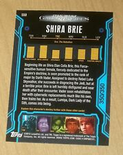 2013 Topps Star Wars Galactic Files Ser 2 BLUE parallel SHIRA BRIE #550 350/350