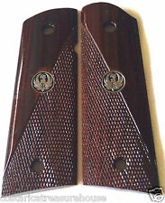 RUGER SR1911 full & MAG cut 1/2 diamond checking & MEDALLIONS COCOBOLO WOOD 10