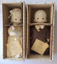 Precious Moments Bride Tammy & Groom Cubby Rare Limited Edition Porcelain Dolls