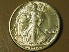 1916S BU Walking Liberty Half Dollar Ref#57