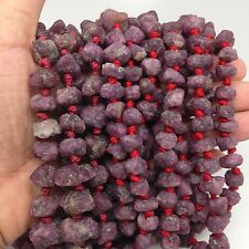 """5mm -8mm Natural Ruby beads from Afghanistan, not polished 16"""" Long,"""