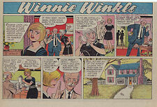 Winnie Winkle - lot of 14 full color Sunday comic pages from early 1970