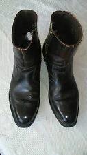 DINGO MENS Cowboy BROWN Leather Vintage ANKLE Boots  Size 9.5 D (Narrow) USA