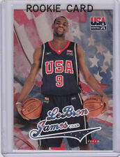 LEBRON JAMES Team USA ROOKIE CARD Basketball RC Fleer #9 Olympics CLEVELAND CAVS