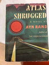 Atlas Shrugged by Ayn Rand First Edition, Twenty Second Prinintg