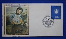 """Ireland (557) 1983 Dublin Chamber of Commerce 250th Anniv. Colorano """"Silk"""" FDC"""