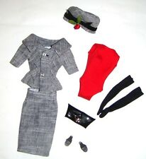 Barbie Ensemble Tweed Suit/Hat Vintage Repro For Doll vf37