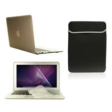 "4 in1 Rubberied GRAY Case for Macbook Air 11"" + Key Cover + LCD Screen+ Bag"
