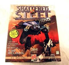 NEW Sealed Shattered Steel 3D Action Warfare Windows 95 PC Video Game Big Box