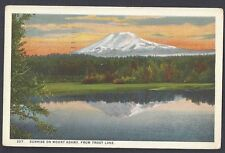 1926 SUNRISE ON MOUNT ADAMS FROM TROUT LAKE, PORTLAND OR