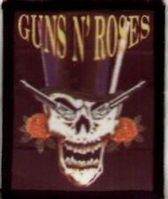 GUNS 'N' ROSES 'SKULL TOP HAT' sew on washable  patch