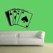 POKER DEAD MAN HAND ACES CARDS WALL DECOR DECAL STICKER