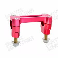 Bar Mounts Handlebar Clamp Kit Anodized Red For Honda CR125R CR250R 2000-2007