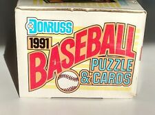 1991 Donruss baseball complete set NEW