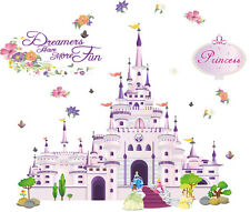 wall stickers princess castle Disney Nursery decor kids removable PVC art decal