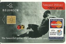 RARE / CARTE TELEPHONIQUE - FOOTBALL EURO 2000 MASTERCARD / PHONECARD BELGIQUE