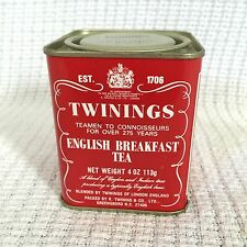 Vintage Twinings English Breakfast Tea Tin-4 Oz-Advertising 113g