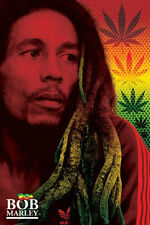 Bob Marley Dread Poster Rasta Colors Herb Iconic Jamaica Never Hung New!
