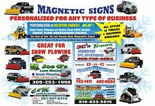 2 Magnetic SIGNS Snow plow, Bobcat, Construction, Sharp